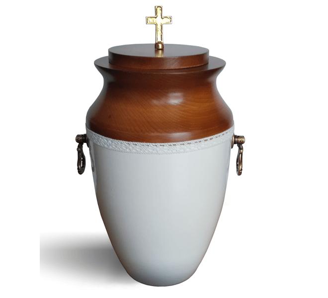 urna matalowo drewniana